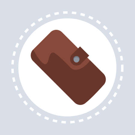 savings purse wallet shopping icon concept flat vector illustration