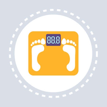 weight scale icon healthcare medical service logo medicine and health symbol concept flat vector illustration