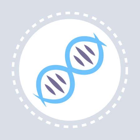 DNA icon healthcare medical service logo medicine and health symbol concept flat vector illustration