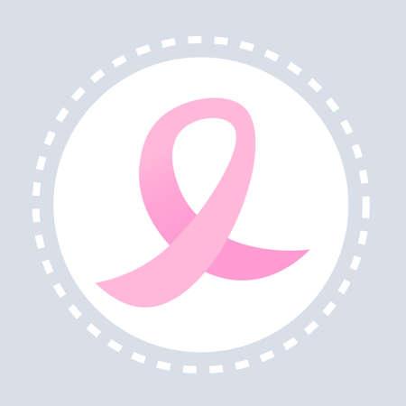 World AIDS day awareness pink ribbon sign 1 december medical prevention poster flat vector illustration