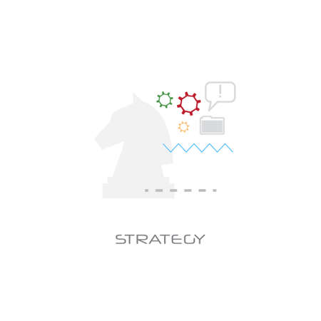 planning corporate tactic business strategy concept line style isolated vector illustration Illustration