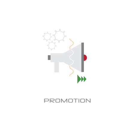 loudspeaker icon megaphone promotion business marketing concept white background line style vector illustration