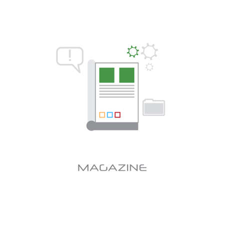 newsletter application magazine concept newspaper icon banner white background line style vector illustration
