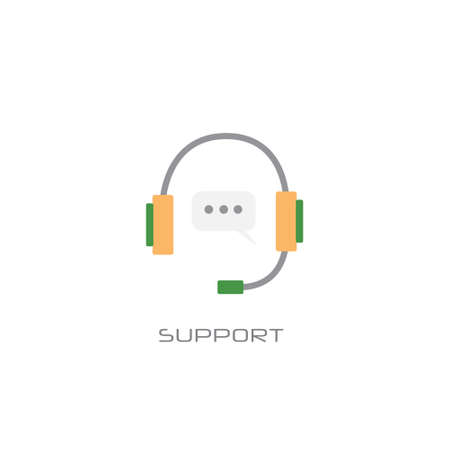 call center customer consulting support service concept line style white background vector illustration