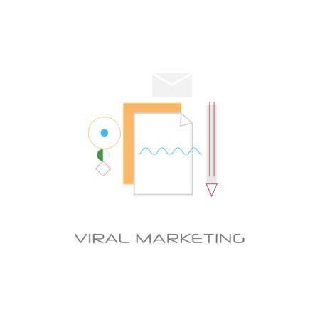 viral content marketing spread optimization concept white background vector illustration Illustration