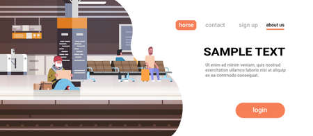poor man with sitting on floor railway station begging for help beggar guy holding sign board homeless concept horizontal full length copy space vector illustration