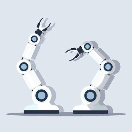 smart handy chef robot kitchen assistant concept modern automation robotic innovation technology artificial intelligence flat vector illustration Ilustração Vetorial