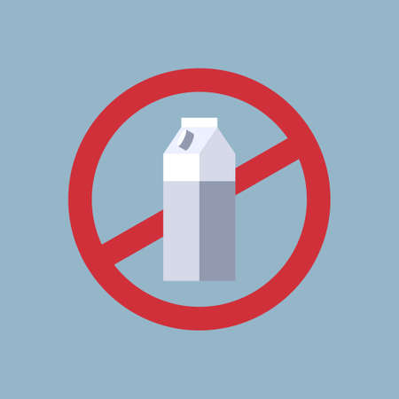 say no to plastic bottle cardboard package poster pollution recycling ecology problem save the earth concept prohibition sign flat vector illustration Illustration
