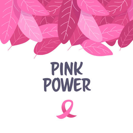 world cancer day pink ribbon icon on breast disease awareness prevention concept flat vector illustration