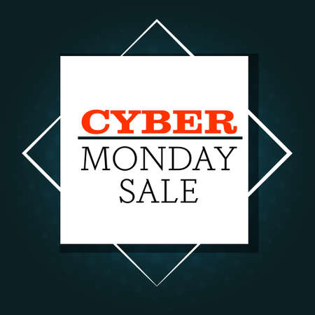 cyber monday big sale advertisement template special offer concept holiday shopping discount poster vector illustration Zdjęcie Seryjne - 134559208