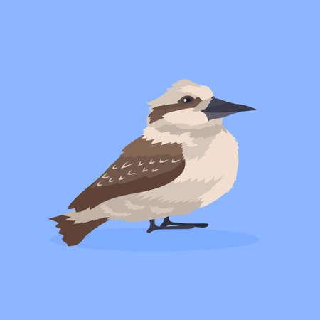 Common starling bird icon cute cartoon wild animal symbol wildlife species fauna concept flat vector illustration