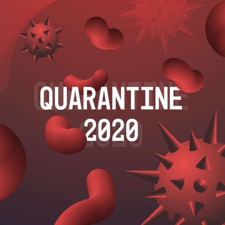 Coronavirus danger public health risk disease epidemic MERS-CoV flu spreading floating influenza virus cells quarantine 2020 nCoV bacteria icon vector illustration Ilustração