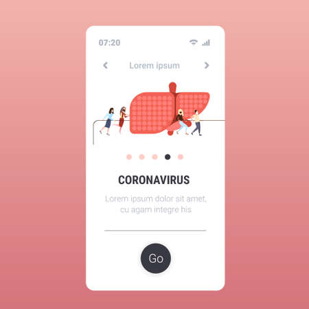people in masks pulling rope epidemic MERS-CoV quarantine infected human liver coronavirus 2019-nCoV pandemic medical health risk full length mobile app copy space vector illustration
