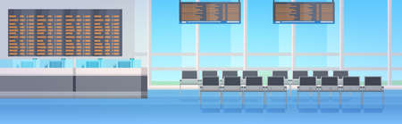 empty no people waiting hall or departure lounge modern airport terminal interior horizontal