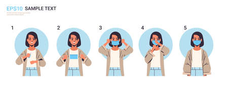 how to wear medical face mask covid-19 protection step by step correct method of wearing mask