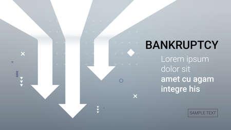 falling down economic downward arrows financial crisis bankruptcy Covid-19 market recession concept