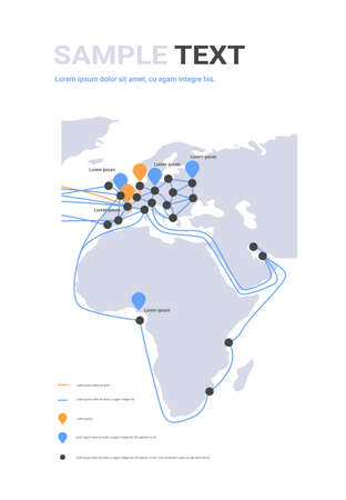 global network cable connections and information transfer system world map technology