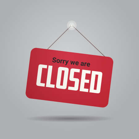 closed sign hanging outside business office store shop or restaurant