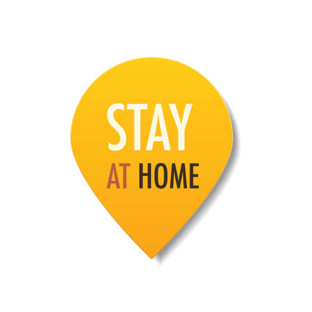 stay at home sticker coronavirus pandemic quarantine covid-19 virus spreading concept Zdjęcie Seryjne - 148268356