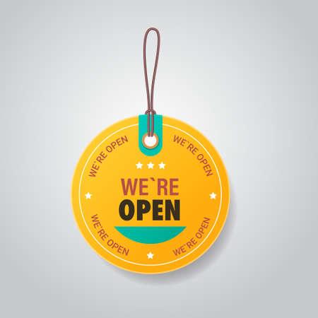 we are open tag coronavirus quarantine over advertising campaign concept
