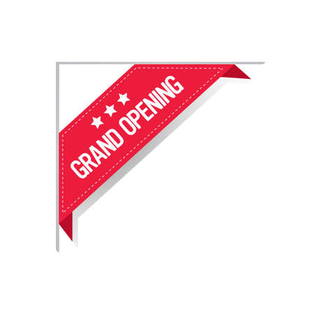 grand opening sticker coronavirus quarantine is over advertising campaign concept