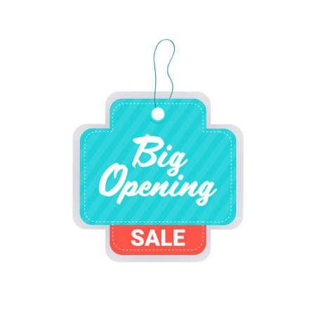 big opening invitation tag coronavirus quarantine is over advertising campaign concept Illustration