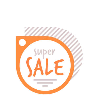 super sale sticker coronavirus quarantine is over advertising campaign special offer concept Vektorgrafik