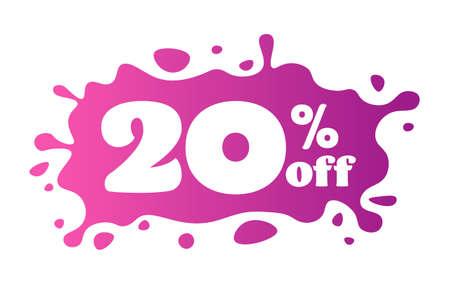 20 percent off price special offer sticker coronavirus quarantine is over advertising campaign concept