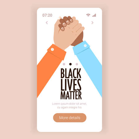 black lives matter multiracial couple holding hand in hand campaign against racial discrimination