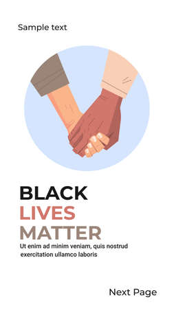 black lives matter multiracial couple holding hand in hand awareness campaign against racial discrimination