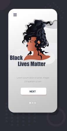 african american woman against racial discrimination black lives matter concept social problems of racism Ilustração