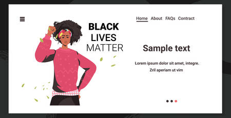 african american woman against racial discrimination black lives matter concept social problems of racism Illustration