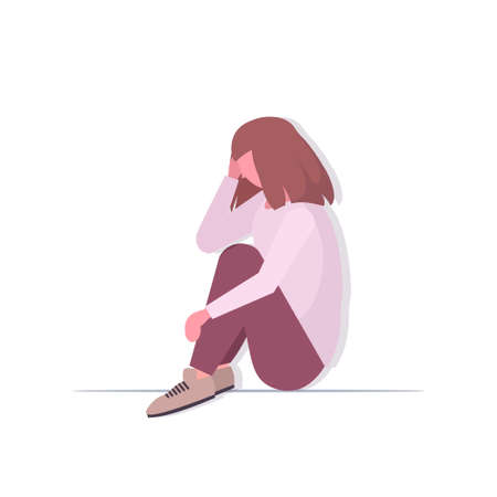 depressed woman crying depression problems stress psychotherapy bullying concept