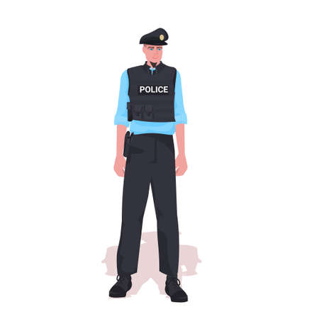 policeman in tactical gear riot police officer standing pose protesters and demonstration control concept