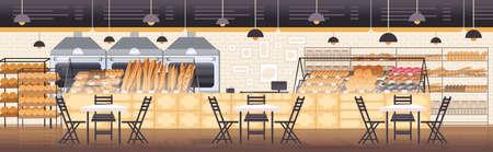modern bakery interior empty no people restaurant