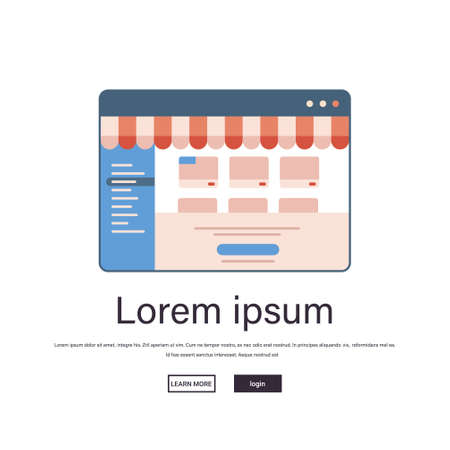 online shopping on website application internet business e-commerce digital marketing concept Vektoros illusztráció