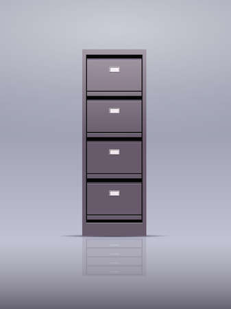 office wall of filing cabinet document data archive storage folders for files business administration concept