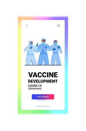 set doctors in masks working with covid-19 nasal swab rapid laboratory tests blood samples coronavirus pandemic