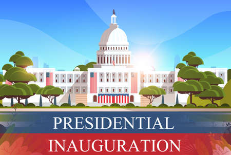 capitol building washington D.C. USA presidential inauguration day celebration concept