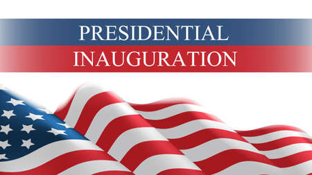 USA presidential inauguration day celebration concept greeting card with united states of america