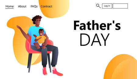 African american father playing with toddler baby at home fatherhood parenting happy fathers day concept