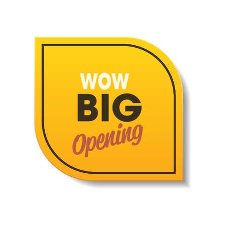 wow big opening sticker quarantine is over advertising campaign concept Vektorgrafik