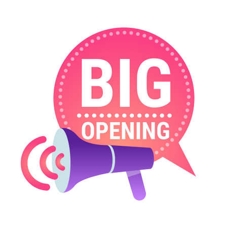big opening sticker quarantine is over advertising campaign concept