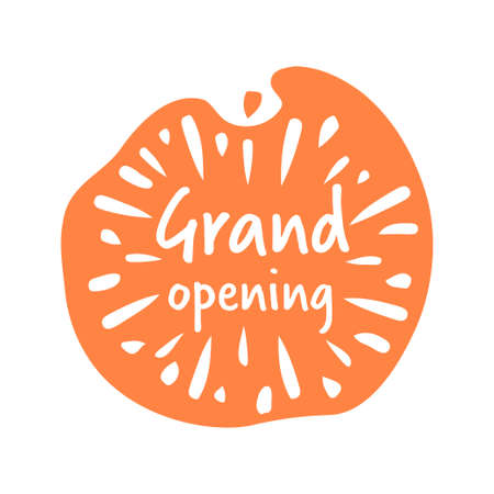 grand opening sticker quarantine is over advertising campaign concept