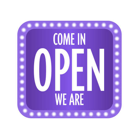 come in open we are sticker quarantine is over advertising campaign concept