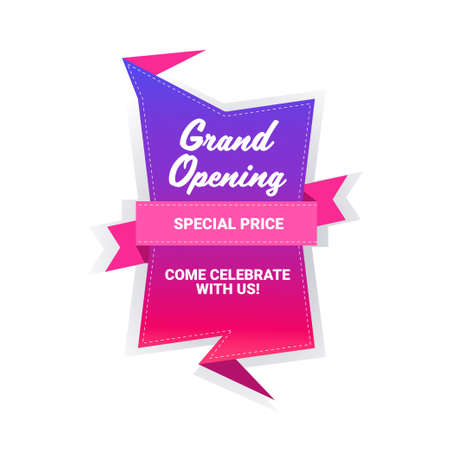 come celebrate with us grand opening sticker quarantine is over advertising campaign concept