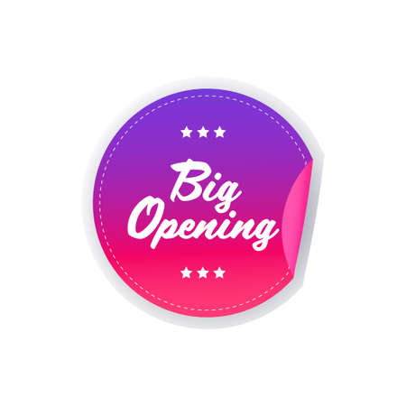 big opening sticker quarantine is over advertising campaign concept poster label flyer