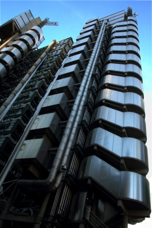 financial sector: tall modern high-rise office block central london england