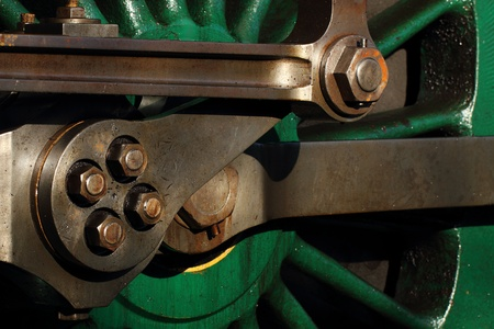 steam locomotive wheels and drive rod photo