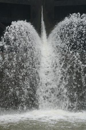 Water lock opening Stok Fotoğraf